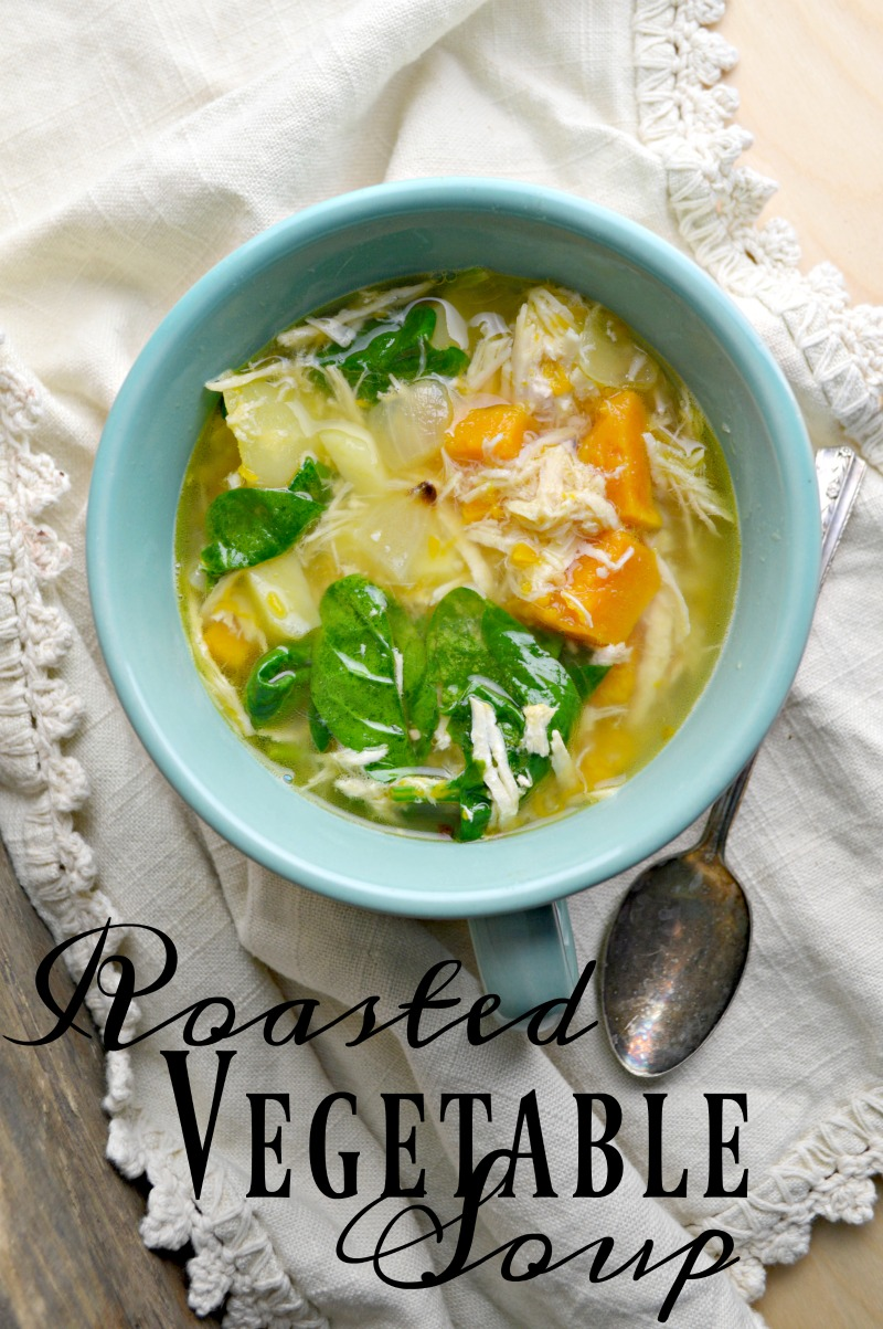 Enter a warm bowl of Roasted Vegetable soup this winter!