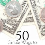 Need more ideas on how to save money? Here are 50 simple ways to save money today! #frugal #Frugalliving #thrifty