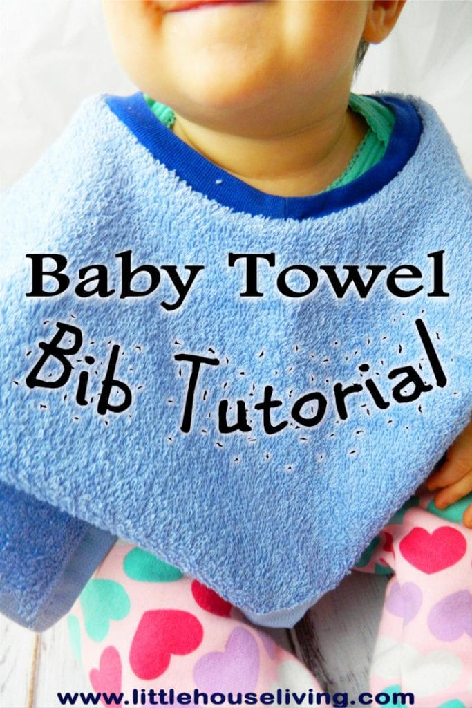 Towel Bibs are so convenient and they can be quick and simple to make as many as you need! You will love this Towel Baby Bib Pattern. #homemadebabybib #babybibpattern #homemadebaby #freepattern