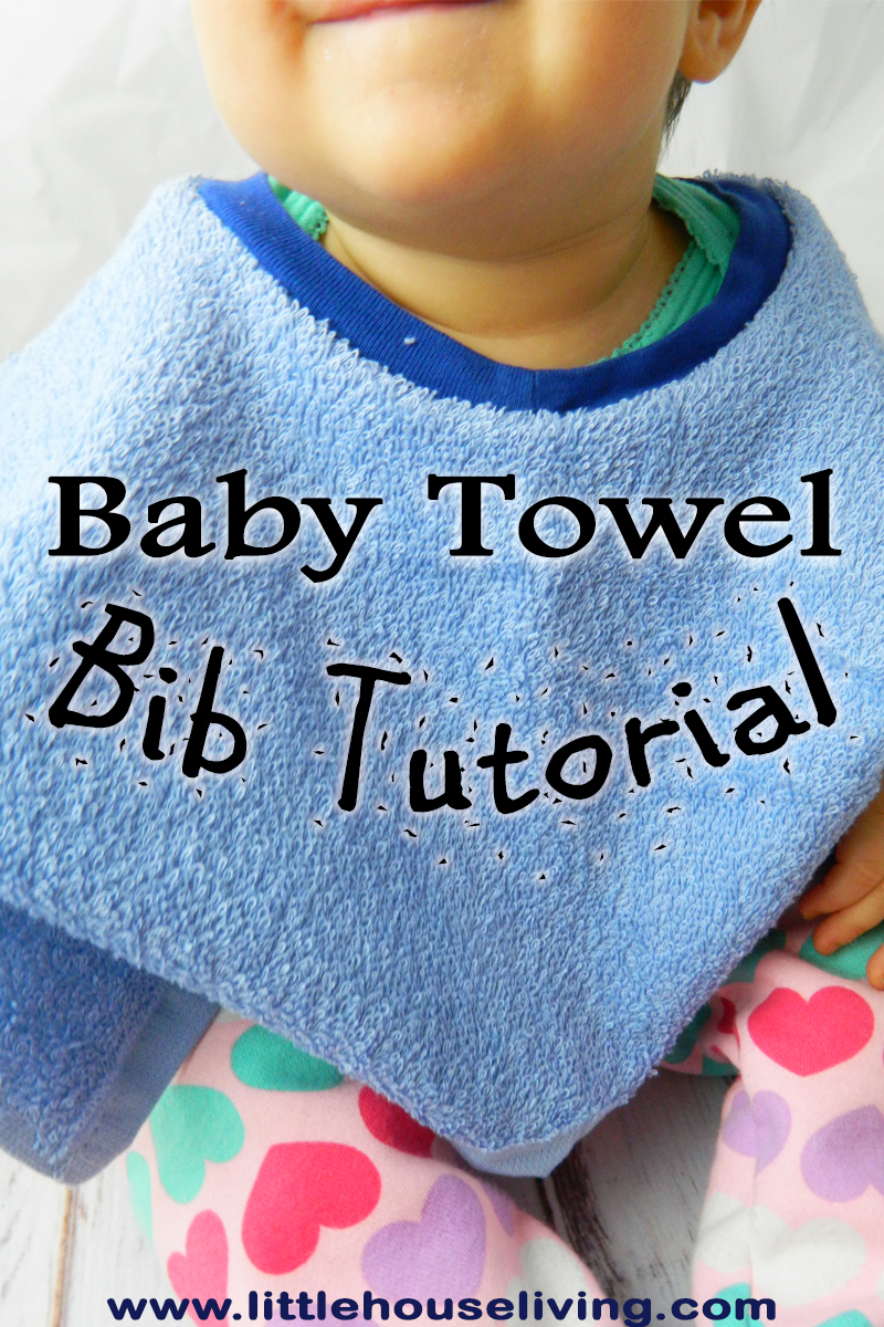 Make your own incredibly useful bibs with this simple Towel Baby Bib pattern!