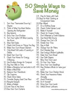50 simple ways to save money little house living for Ways to save for a house