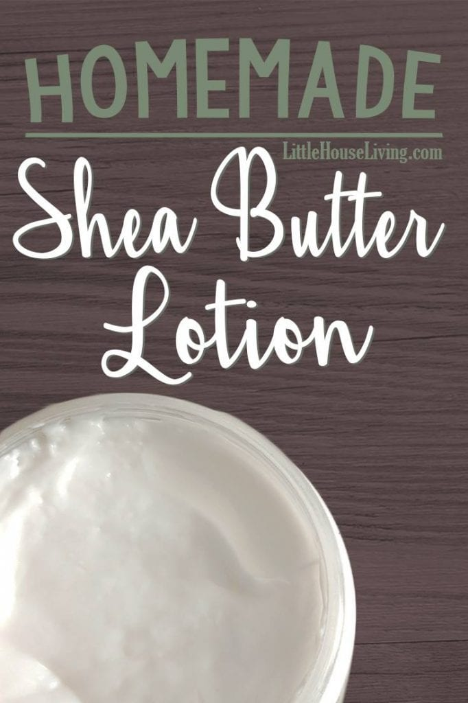 This easy to make homemade shea butter lotion is an all natural recipe that is sure to leave your skin feeling soft and smooth!