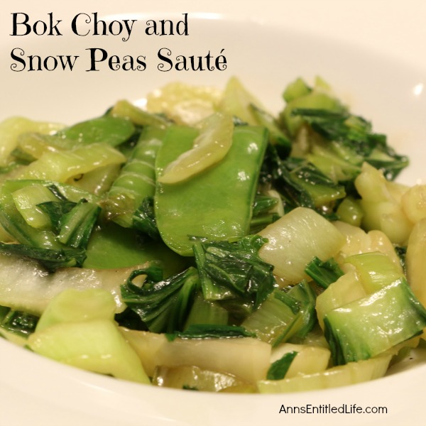 How to make a delicious Snow Pea Saute with your fresh garden veggies!
