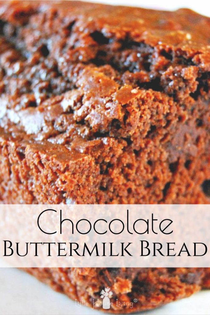 Looking for a new quick bread recipe to try today? You've got to give this amazing recipe for Chocolate Buttermilk Quick Bread a shot! #buttermilkchocolatebread #quickbread #chocolate #homemade #fromscratch #buttermilk