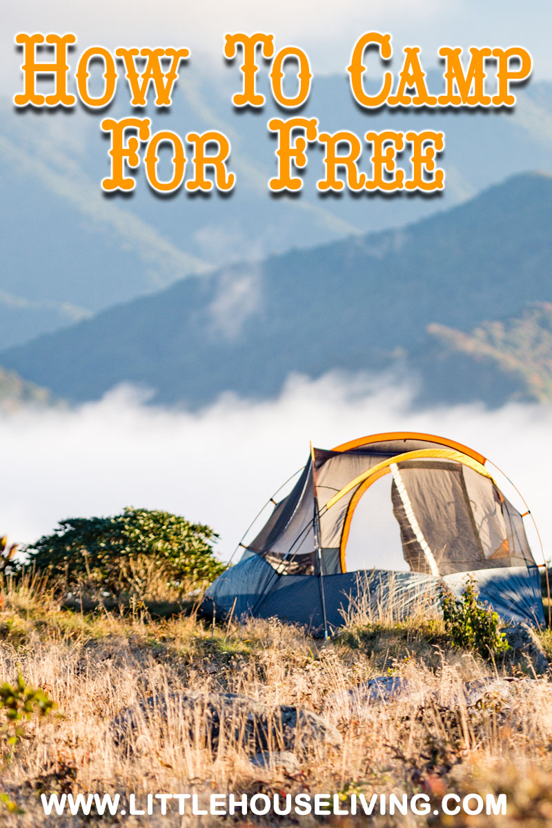 Here are some tips on dry camping and how to camp for free!