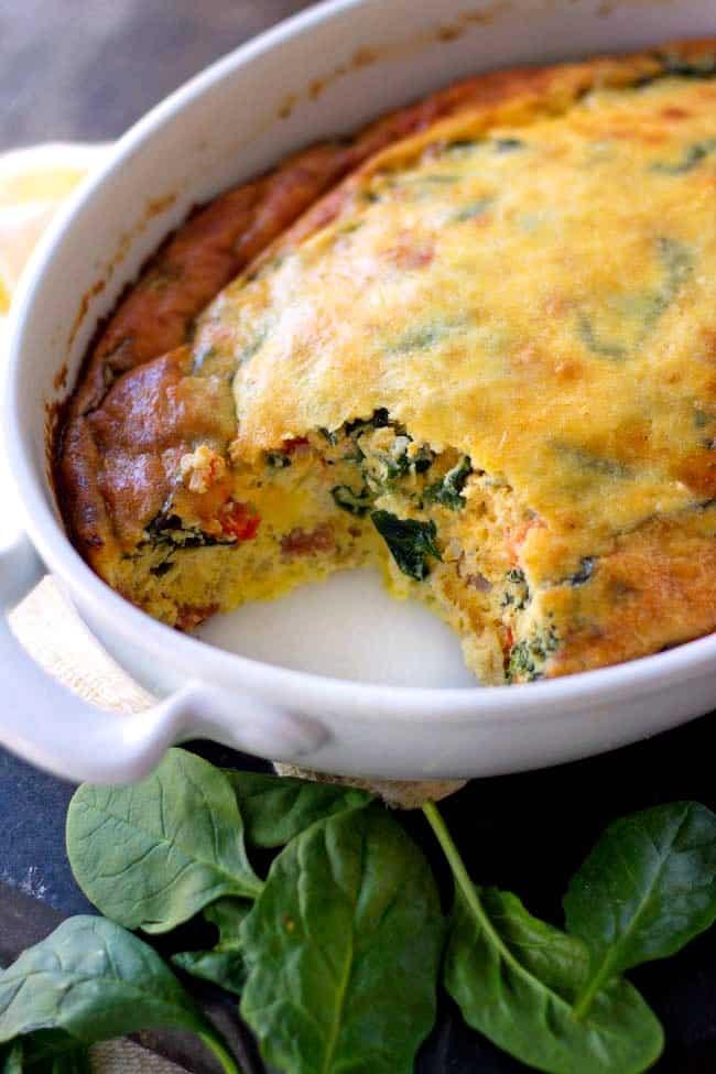Spinach Egg Bake Recipe