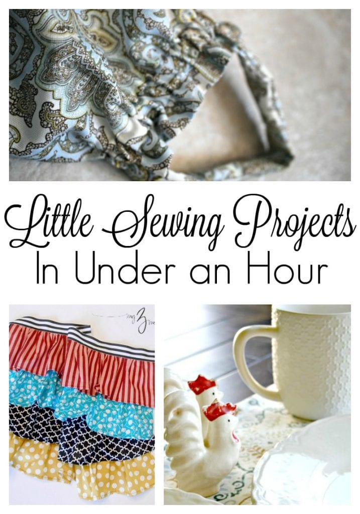 Need something to make? Here are some small sewing projects that you can make in less than an hour with very little fabric! #sewing #freepatterns #quicksewingprojects #underonehour #easysewing #beginnersewing