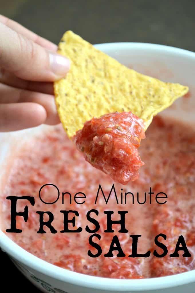 One Minute Garden Fresh Salsa Recipe