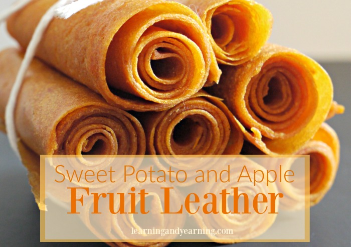 Sweet Potato and Apple Fruit Leather