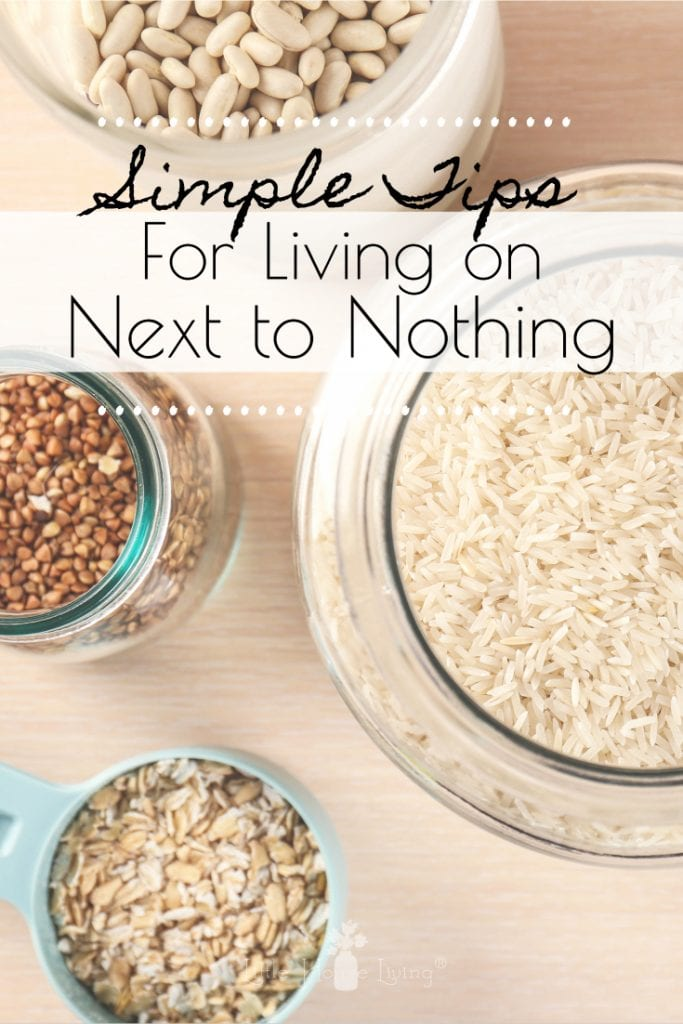 Living on next to nothing can seem impossible these days but with a few simple tips, you can learn how to live within your budget, even when it's limited. #frugalliving #tips #livingonnexttonothing #savemoney