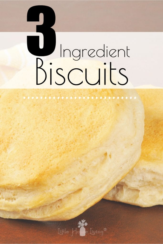 Want to make homemade biscuits but don't have a lot of ingredients or time on your hands? This wonderful 3 ingredient biscuit recipe from scratch is for you! These will make the perfect addition to your next meal. #quickrecipe #biscuitrecipe #3ingredientsrecipe #fromscractch #scratchmade