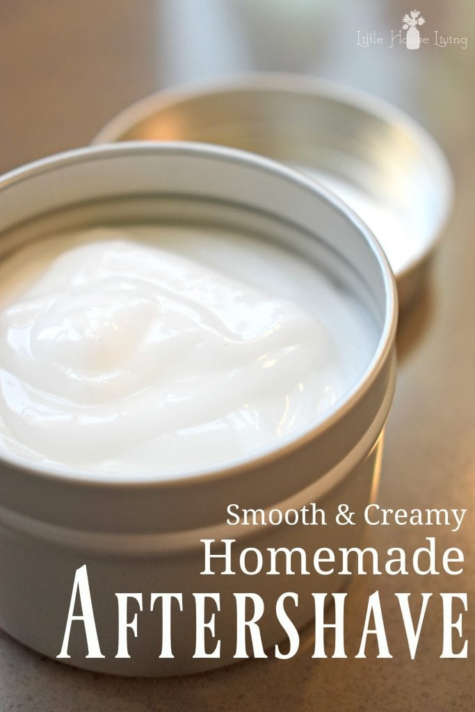 Incredibly easy (just 2 ingredients!) homemade Aftershave Lotion. Makes your skin so smooth and creamy! #diyaftershave #shavingcream