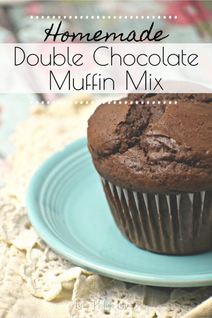 This is the best Chocolate Muffin Mix recipe! It makes wonderfully rich chocolate muffins that taste moist and delicious and are easy to make and store. #homemademuffinmix #chocolatemuffins #chocolatemuffinmix