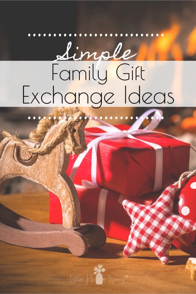It seems that each year, Christmas gets more and more complicated. More and more things. More and more decor. More and more everything. Bring simple back to Christmas this year with these simple Christmas gift exchange ideas that are perfect for the whole family. #christmasgiftexchangeideas #christmasideas #giftexchange #simpleliving #simplechristmas