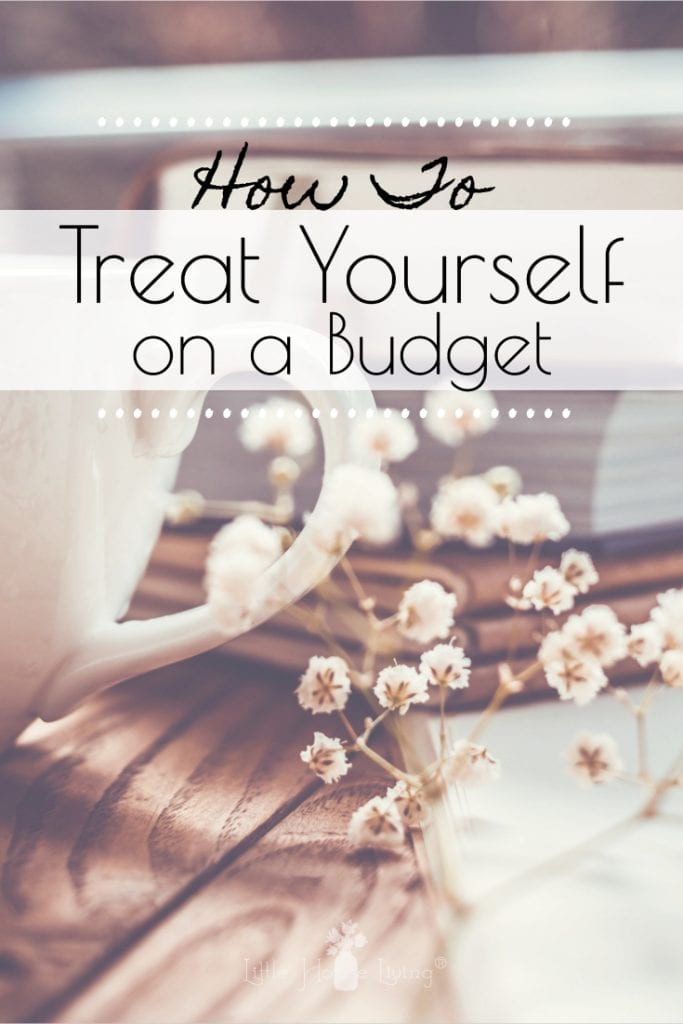 Today I'm going to be sharing 5 simple ideas for how you can treat yourself on a budget without losing sightof your mission to live a simple, frugal life. #selfcare #treatyourself #frugallifestyle