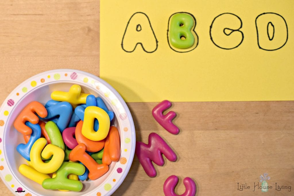 Keeping Little Ones Occupied - ABC Letters
