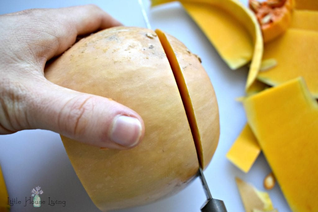 Cut Bottom Off Butternut Squash