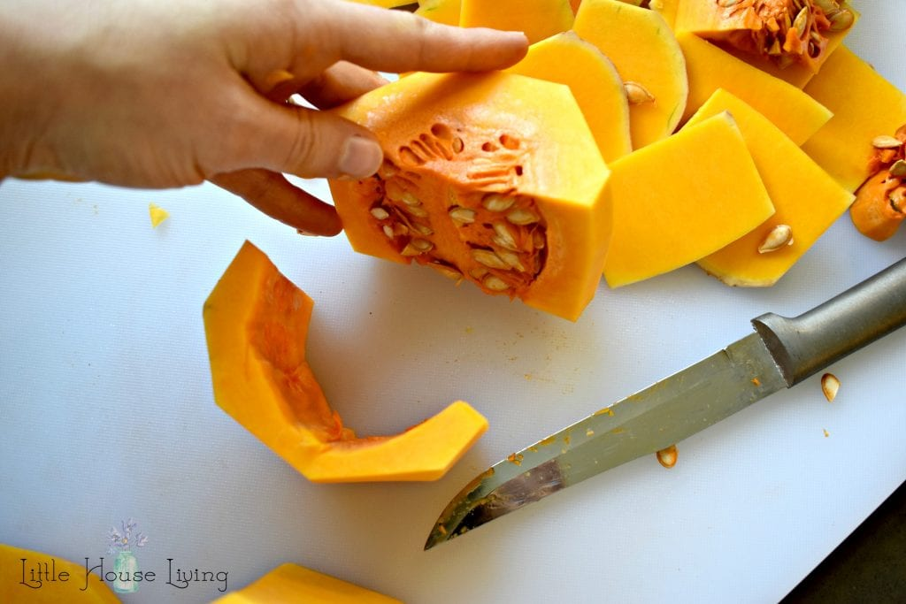 De-seeding a Butternut Squash