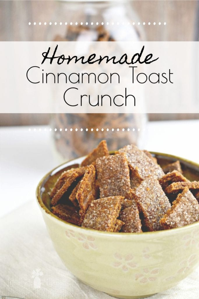 Breakfast is the most important meal of the day, make it special by learning how to make your own homemade cereal with this Cinnamon Toast Crunch recipe! #homemadecereal #cinnamoncrunchcereal #glutenfree #glutenfreecereal #fromscratch #makeyourown #allergenfriendly