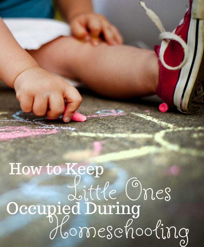 How to Keep Little Ones Occupied While Homeschooling Older Children