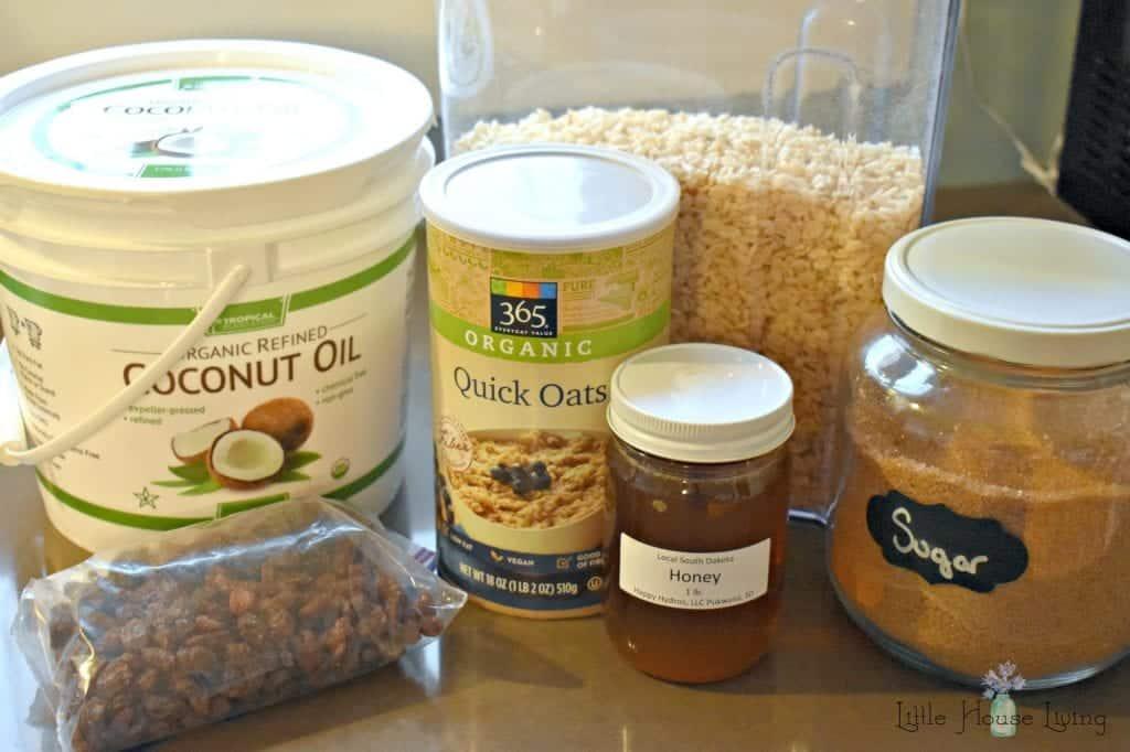 Oatmeal Raisin Granola Bar Ingredients