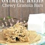 Homemade Oatmeal Raisin Granola Bars Recipe