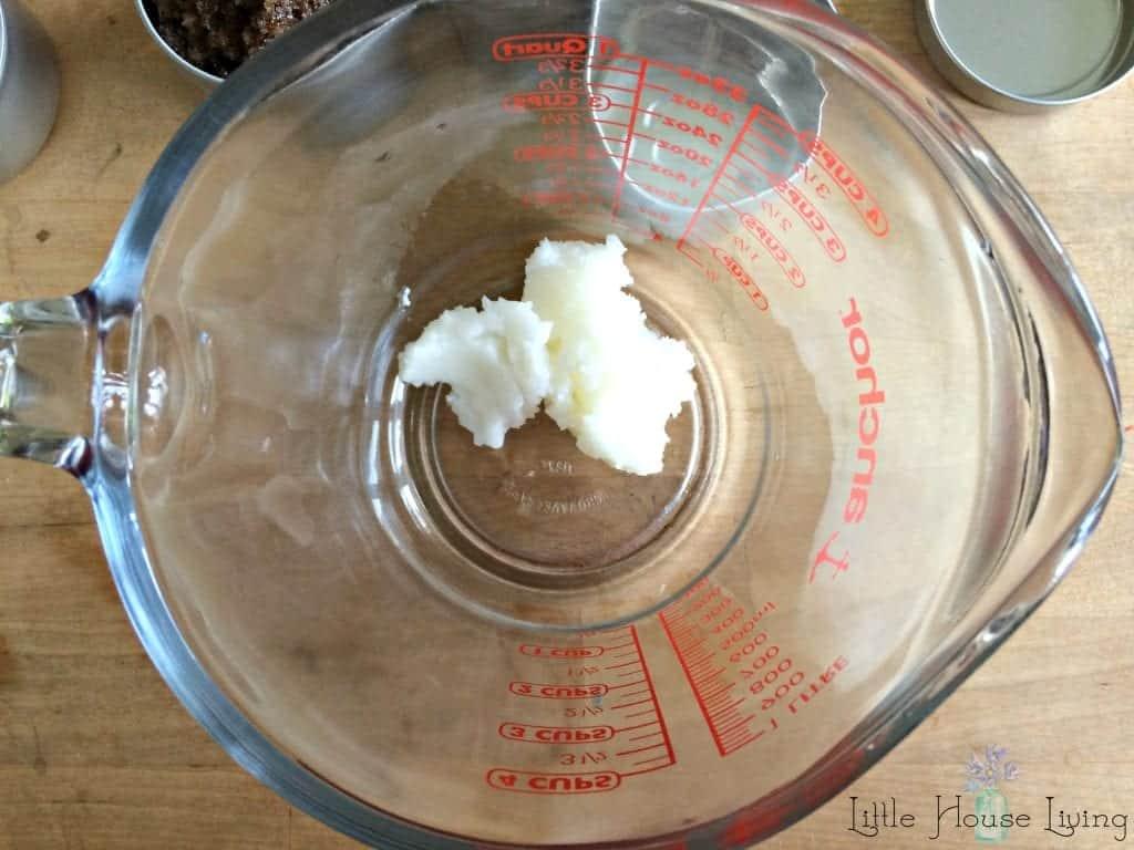 Coconut Oil in Coffee Scrub