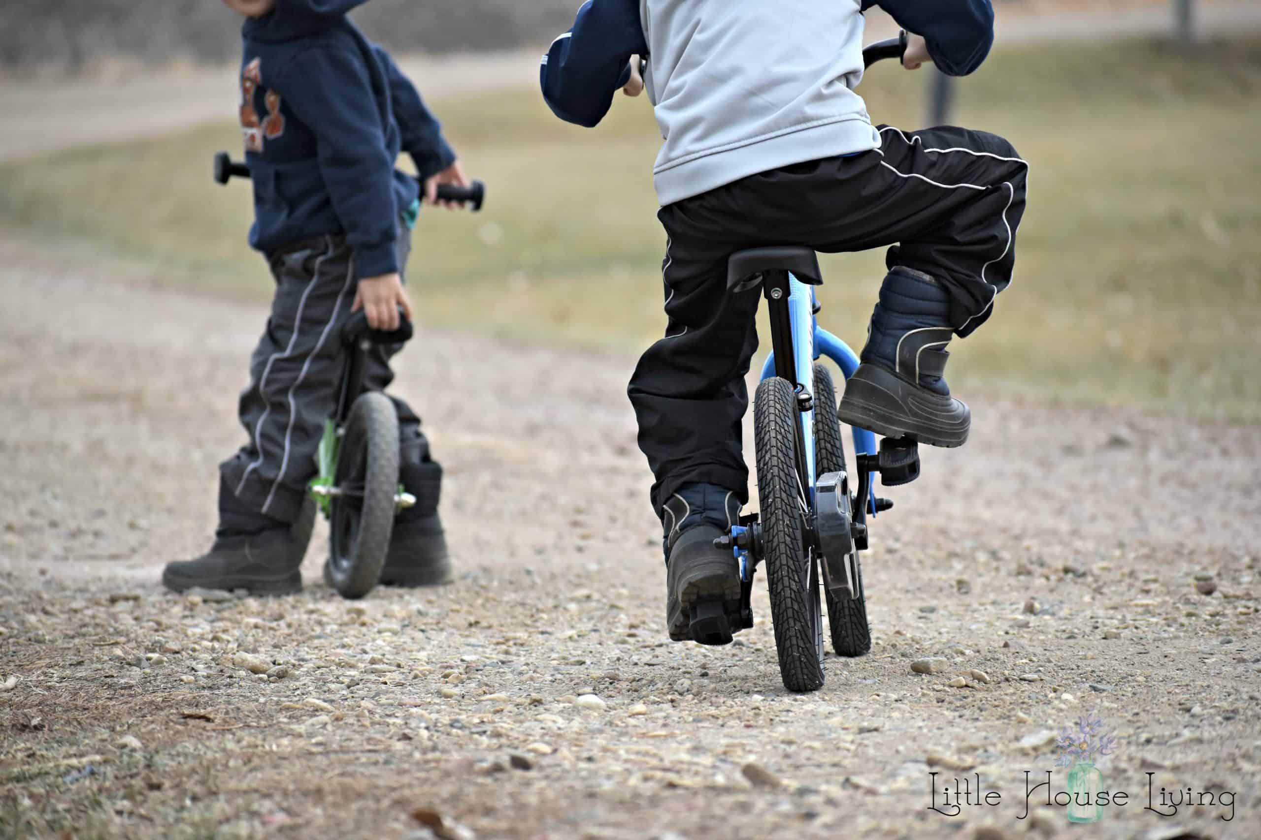 Riding Strider Bikes