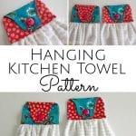 Looking for a simple project that also makes a perfect gift? These Hanging Kitchen Towel Sewing Patterns are easy to sew, easy to customize, and fun to make! #freesewingpattern #handtowel #easysewingproject #hangingkitchentowelpattern