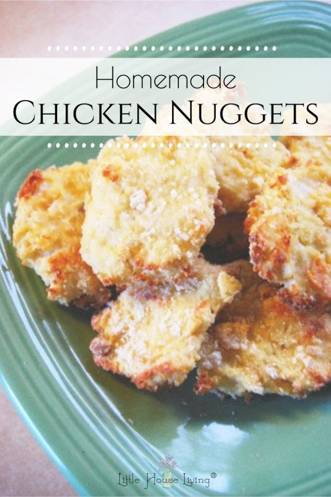 This great recipe for homemade Chicken Nuggets is sure to be a winner at your house! Easy to make, simple ingredients and you can freeze it for quick meals! #chickennuggets #homemadechickennuggets #freezermeal #freezerfriendly #glutenfree