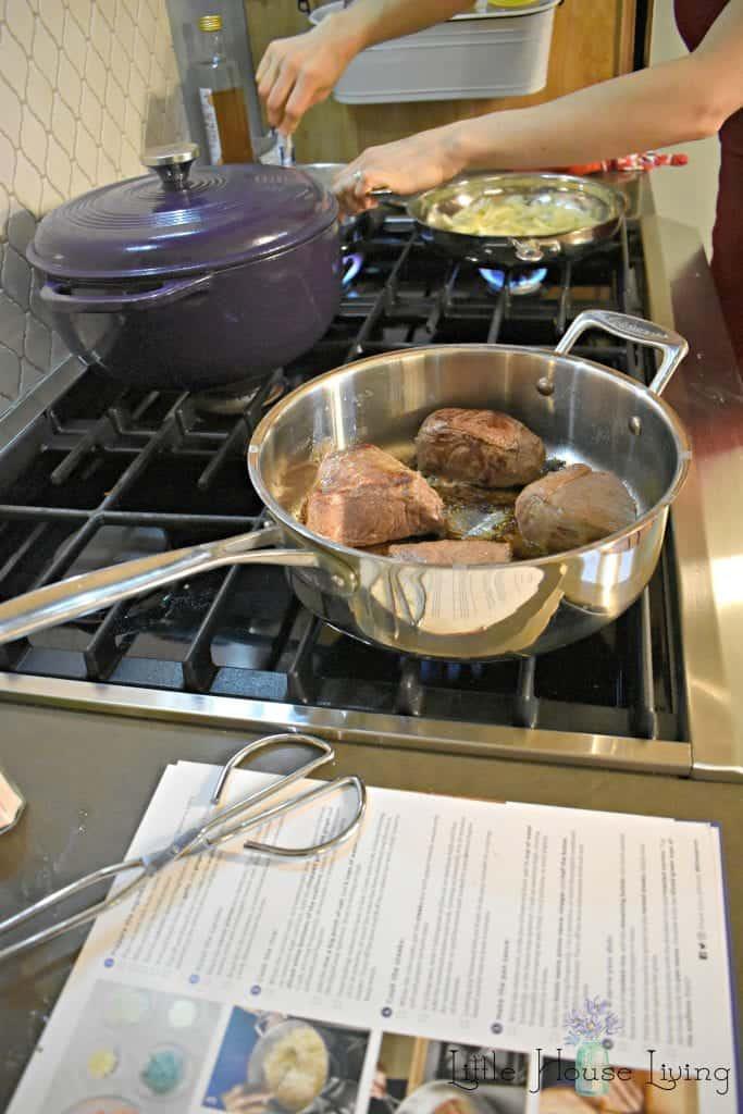 Blue Apron Steak Dinner