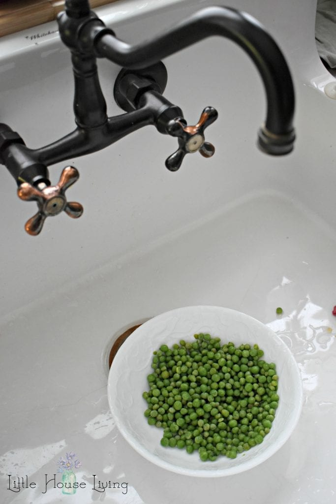 Washing Peas