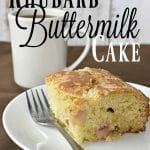 Rhubarb Buttermilk Cake Recipe