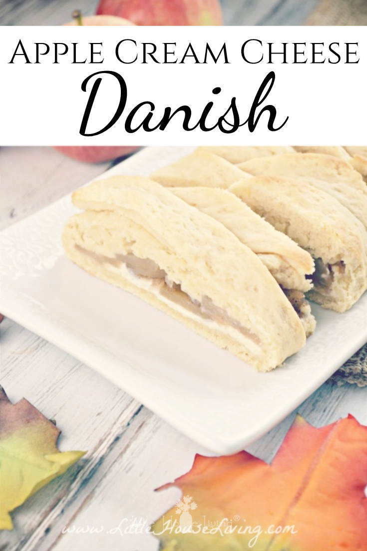 This apple danish braid recipe from scratch involves no canned products like the usual danish recipes that you see. It's not difficult to make and so, so yummy! The apple filling is perfect for fall and a great way to use apples. It makes a delicious dessert or a special breakfast. You have to try it! #appledanish #danishbraid