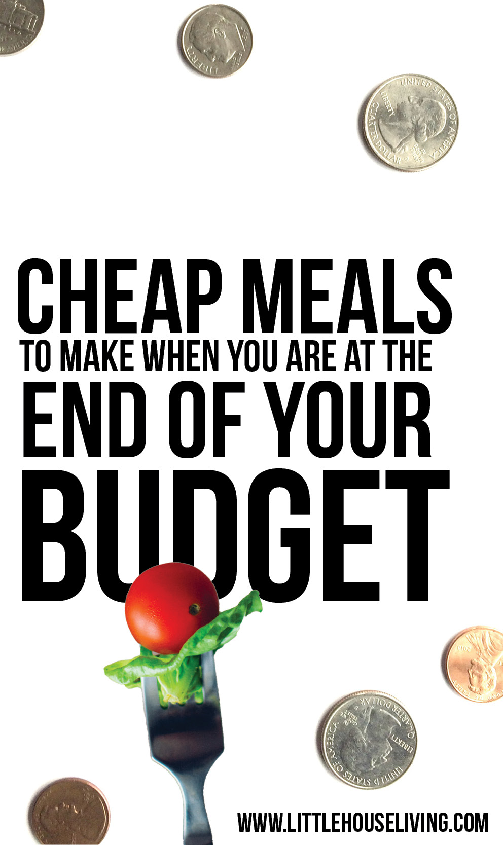 Are you at the end of your budget and still need to eat? Here are some cheap meals to make when you have more month than money. #cheap #frugal #thrifty #cheapfood #frugalliving #frugality