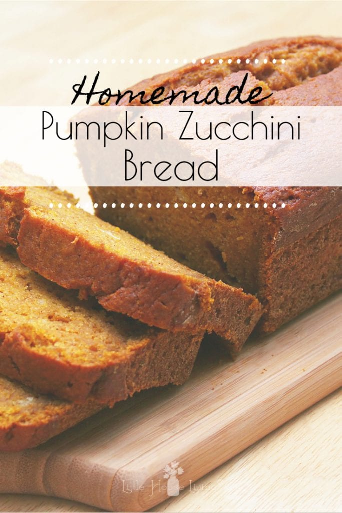As fall starts, I love to start making anything with pumpkin. For me, it's one of the best parts of the cooling days...all the yummy baked pumpkin goods. I love my home filled with the smell of pumpkin pie spice. Is there a more warming and happy smell? This Pumpkin Zucchini Bread recipe has just that! #pumpkinzucchini #Pumpkinbread #zucchinibread #quickbreadrecipes