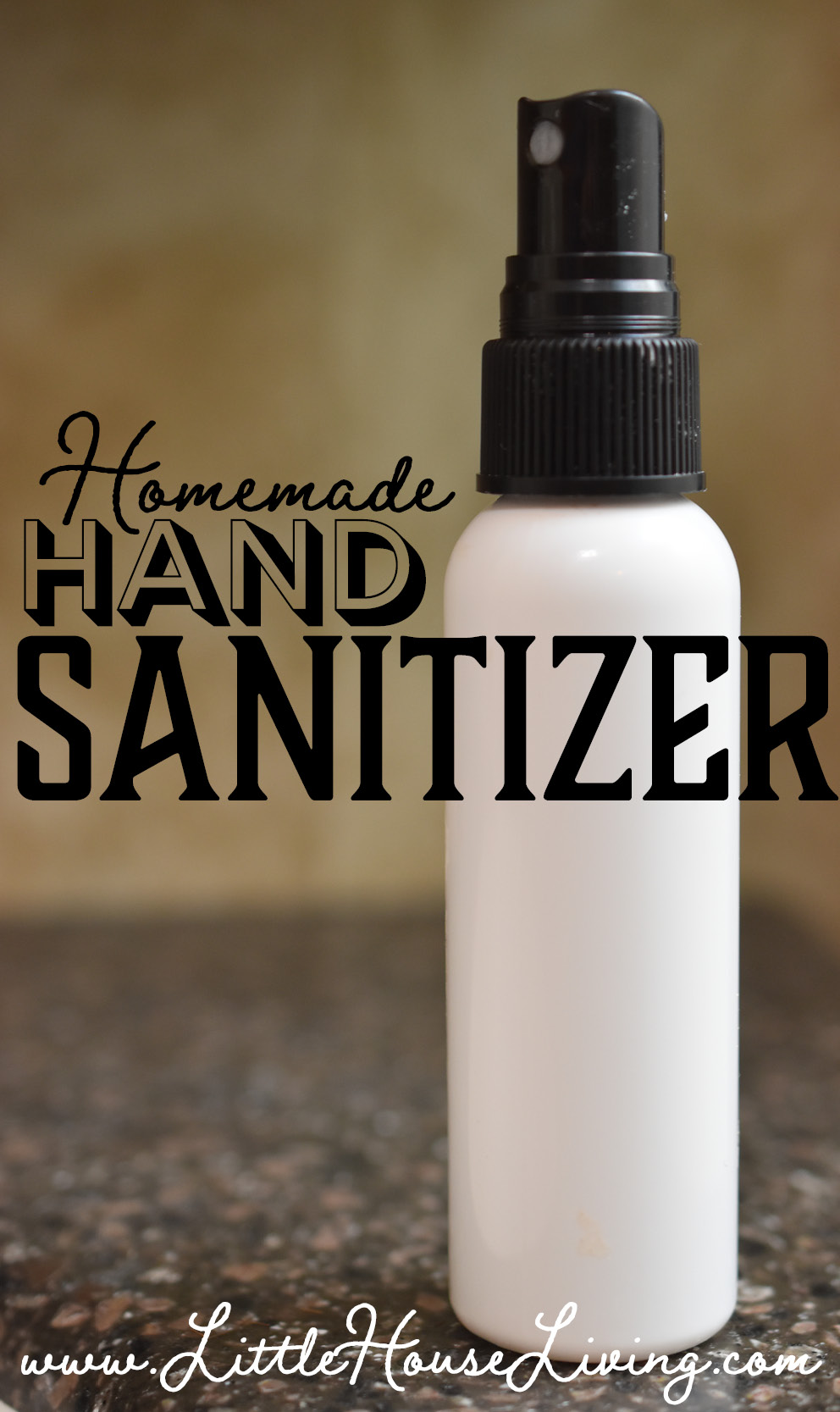 Learn how to make your own homemade Hand Sanitizer Spray with just 3 simple ingredients including essential oils. Very easy to make! #makeyourown #handsanitizer #handsanitizerspray #homemadeessentialoils #essentialoils
