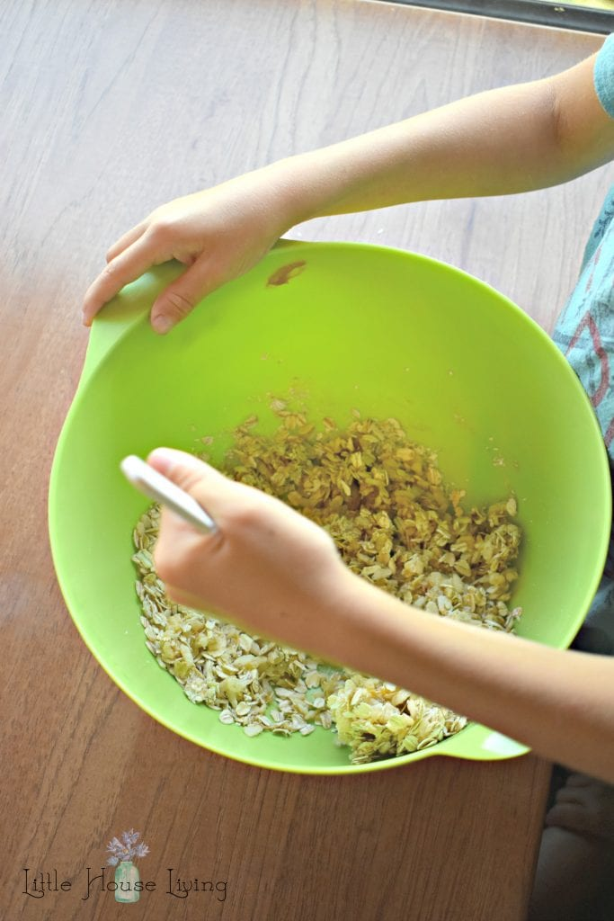 Mixing Up Oatmeal Bites