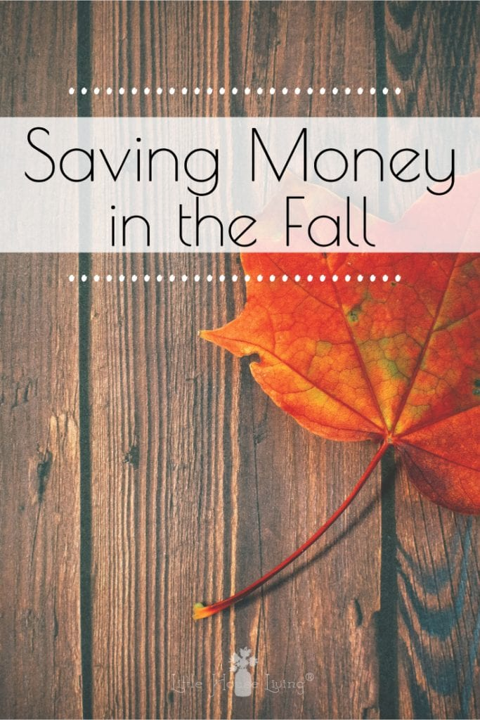 Every time of the year is a good time to save money! Here are some tips for saving money in the fall. #savingmoney #fall #autumn #savemoney #fallsavings