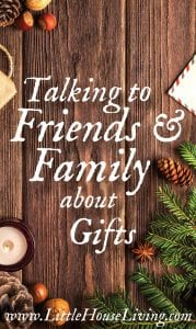 Talking to Friends and Family About Gifts