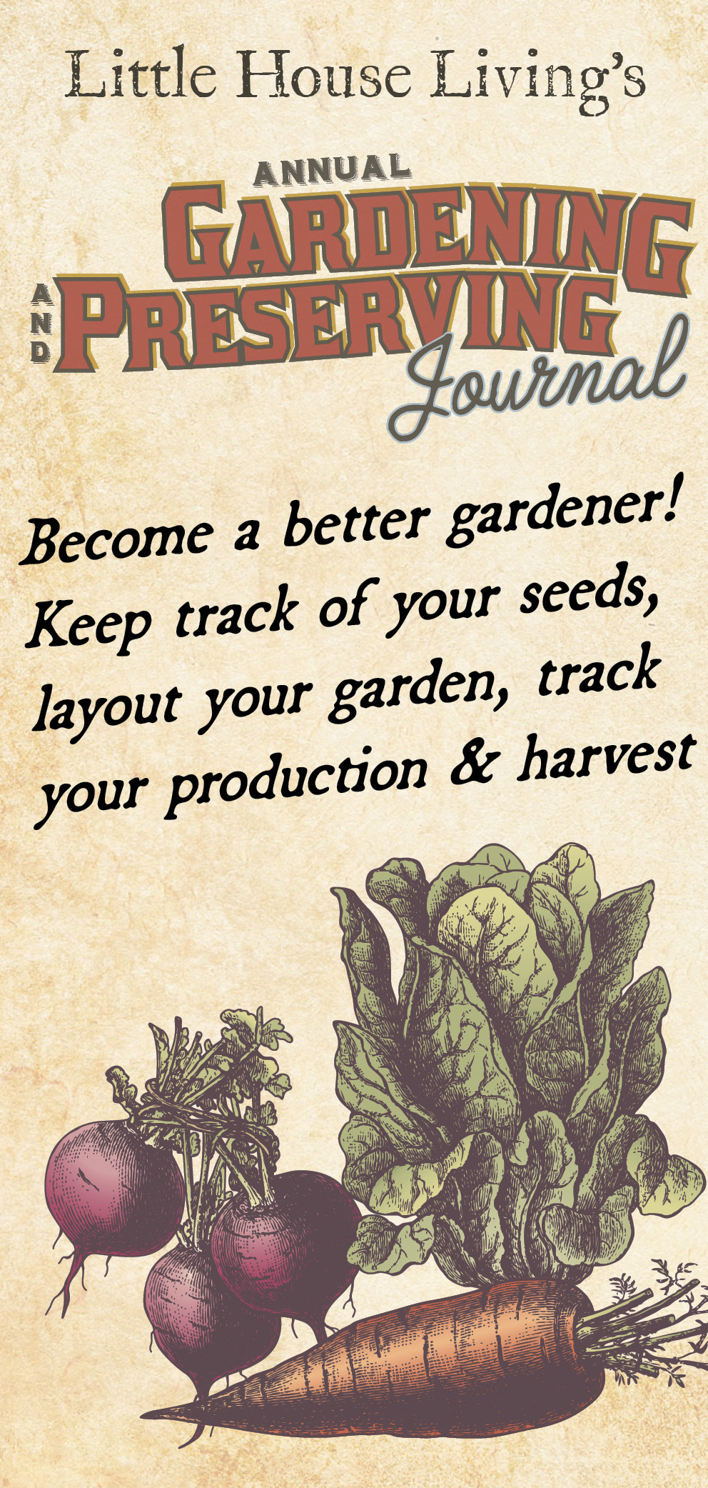 This is the best gardening journal you will ever find because it contains a huge section to keep track of all your home preserved goods as well! Every gardeners must have.  #gardeningjournal #preservingjournal #journals #oldfashionedjournal #homesteadingjournal