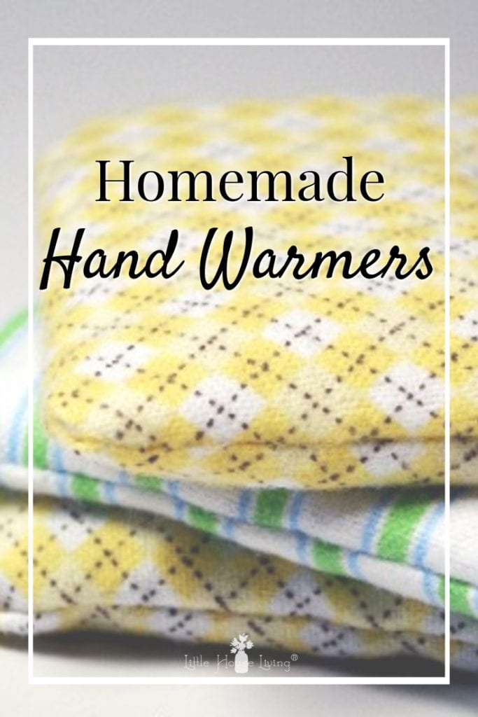 Need to keep your fingers warm while you are outside this winter? Learn how to make your own rice Hand Warmers that can be reused time and time again. #makeyourown #sewingproject #sewingpattern #homemade #handwarmers #homemadehandwarmers