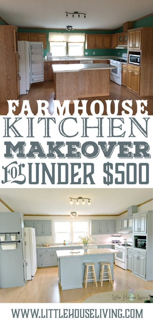 Frugal Kitchen Makeover for Less Than $500