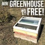 How to build your own mini greenhouse for free or next to nothing! Easy project.