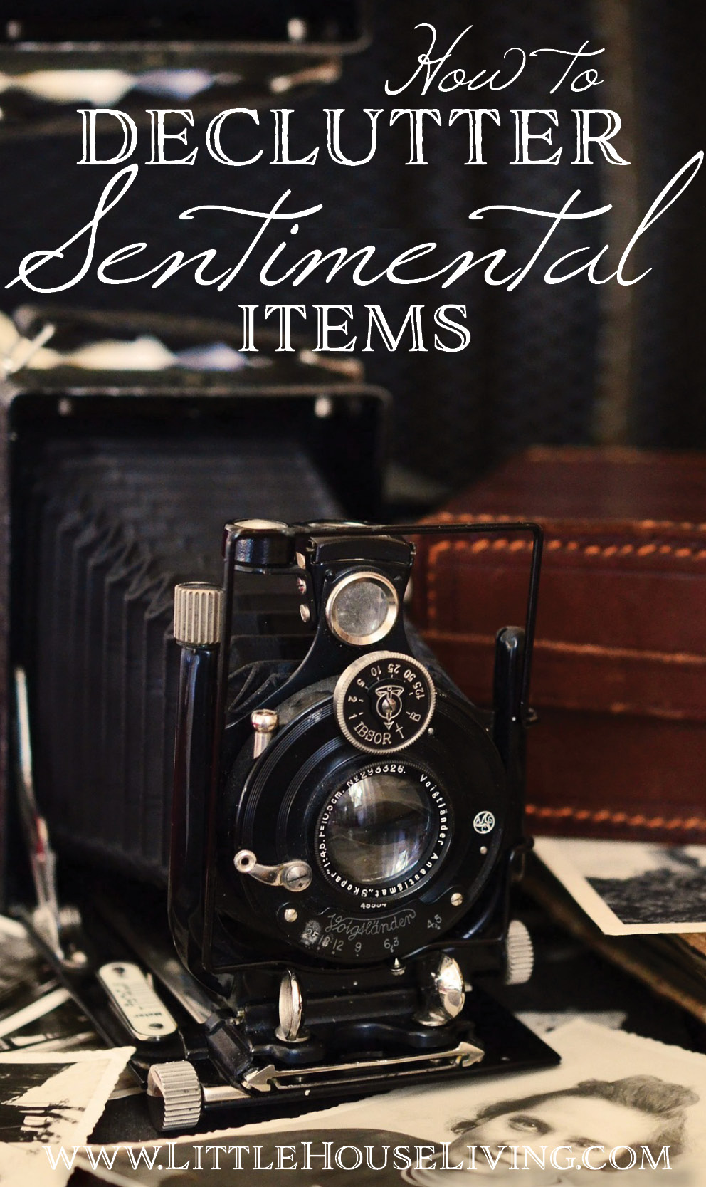 Stop procrastinating over decluttering sentimental items by following the simple ideas outlined in this blog article.  #decluttering #minimalism #minimalist #declutter #cleanout #organization #howtodeclutter
