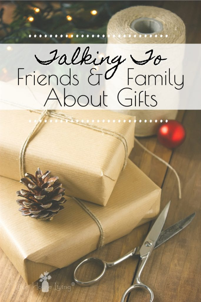 Don't want to bring extra clutter into your home this holiday season? Here are some ideas on how you can talk to friends and family about gifts. #holidays #christmas #giftgiving #clutterfree #minimalism