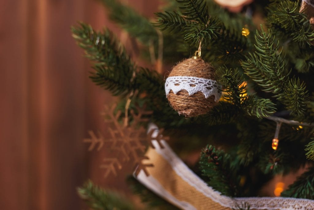 jute ornament