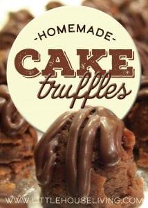 Homemade Cake Truffles