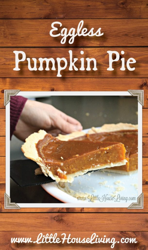 Need to make a pumpkin pie without eggs this year? This Pumpkin Pie is just perfect and turns out wonderfully! #veganpumpkinpie #egglesspumpkinpie #homemadepie #pumpkinpie #homemadepumpkinpie #glutenfree #allergenfriendly