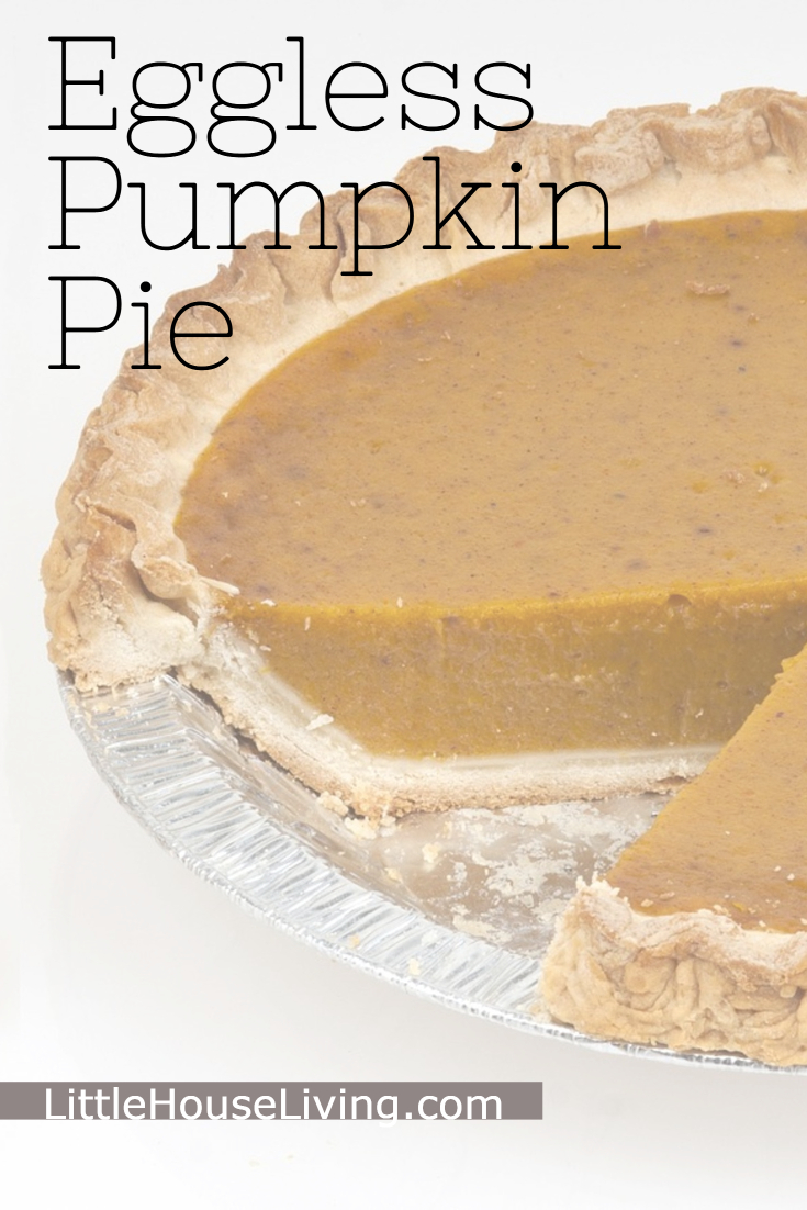 Need to make a pumpkin pie without eggs this year? This Pumpkin Pie is just perfect and turns out wonderfully! #veganpumpkinpie #egglesspumpkinpie #homemadepie #pumpkinpie #homemadepumpkinpie